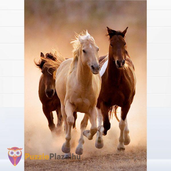 1000 darabos vágtató lovas puzzle. Clementoni - High Quality Collection 39168 kirakott kép