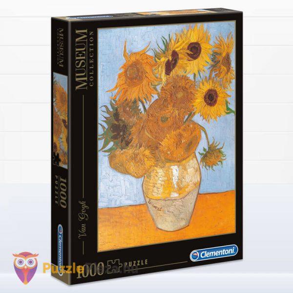 1000 darabos Van Gogh - Napraforgók Puzzle - Clementoni Múzeum Kollekció 31438