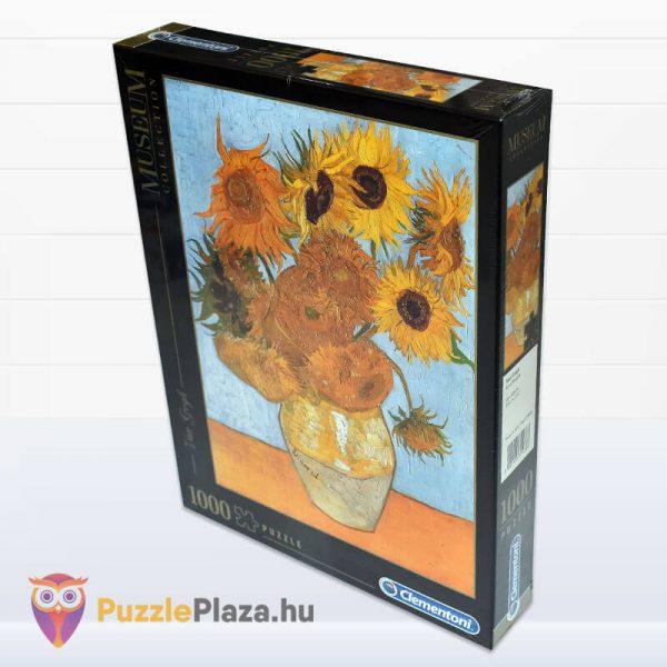 1000 darabos Van Gogh - Napraforgók Puzzle - Clementoni Múzeum Kollekció 31438 elforgatva