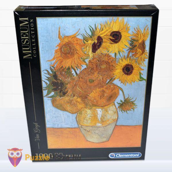1000 darabos Van Gogh - Napraforgók Puzzle - Clementoni Múzeum Kollekció 31438 előről