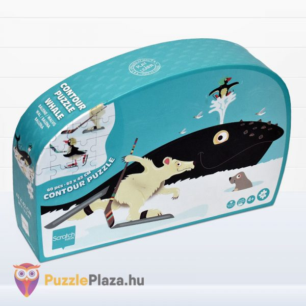 60 darabos bálna forma puzzle - Scratch Europe - balról