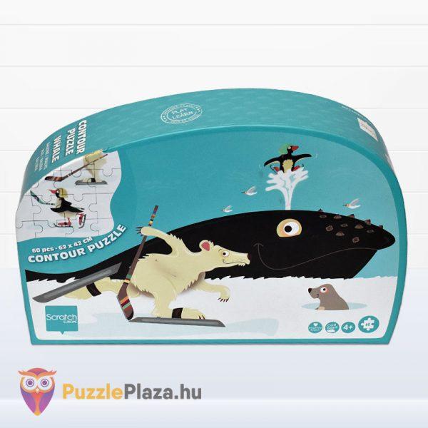60 darabos bálna forma puzzle - Scratch Europe - előről