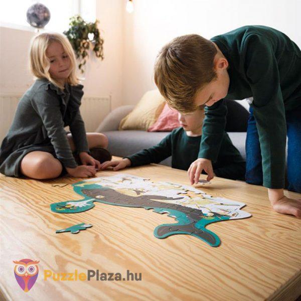 60 darabos bálna forma puzzle - Scratch Europe - játék közben