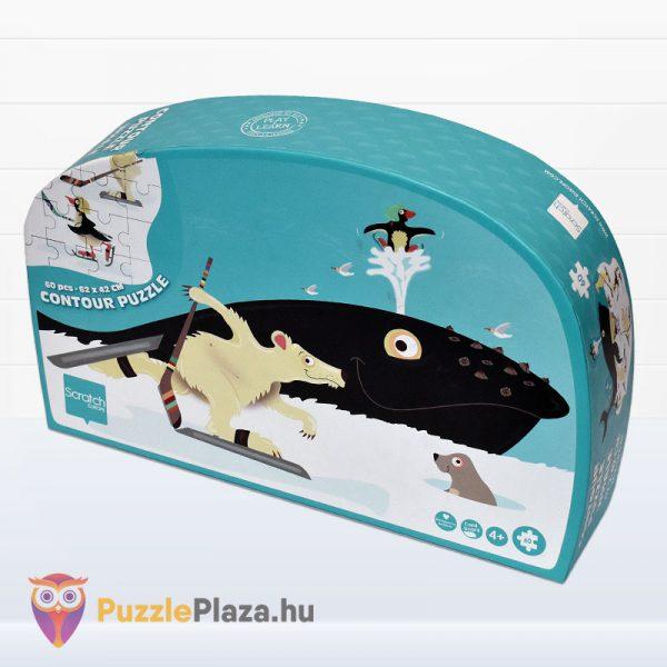 60 darabos bálna forma puzzle - Scratch Europe - jobbról