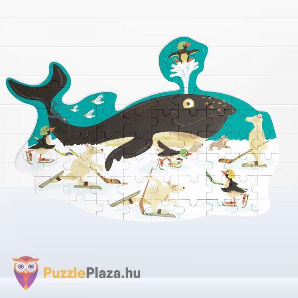60 darabos bálna forma puzzle - Scratch Europe - kirakott kép