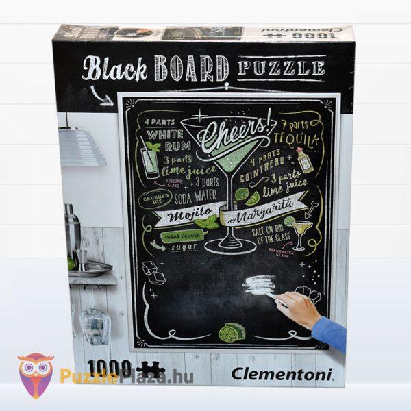 1000 darabos Cheers puzzle - Clementoni Black Board Puzzle 39467 előről
