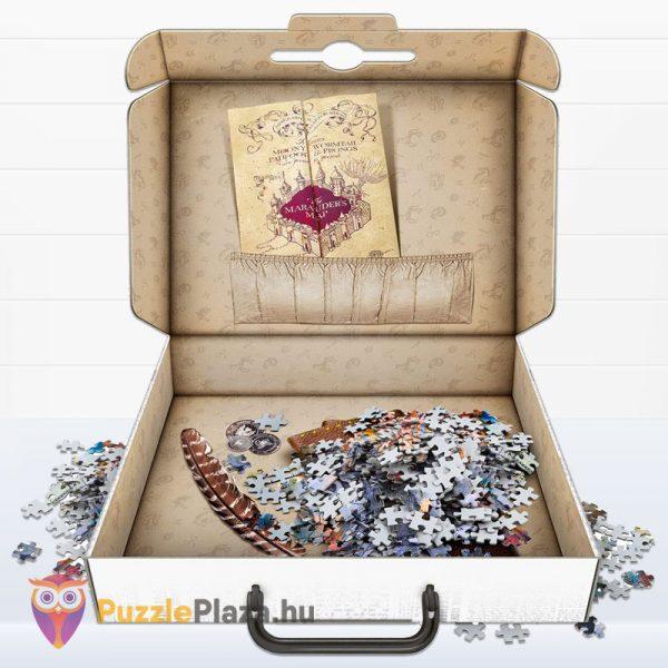 1000 darabos Harry Potter puzzle nyitott bőrönddel - Clementoni 61882