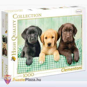 1000 darabos labrador kölyök kutyusok puzzle - Clementoni High Quality Collection 39279
