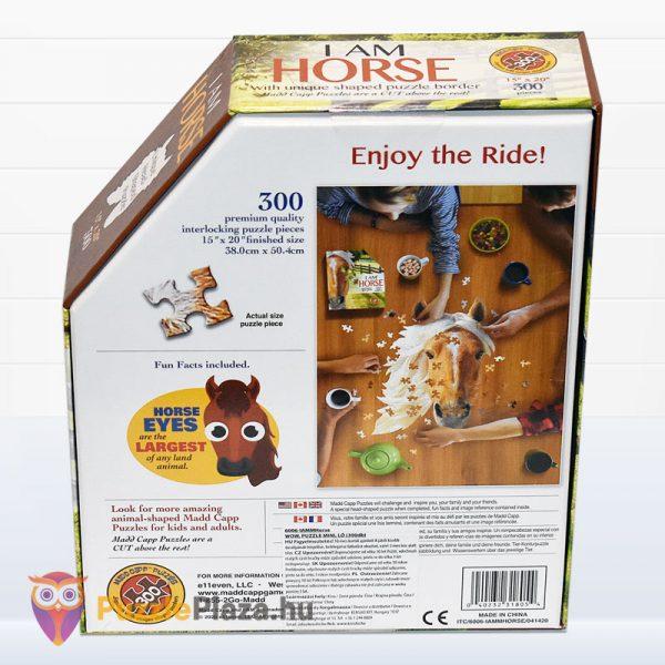 300 darabos ló forma puzzle mini. Wow Toys 6006 - hátulról