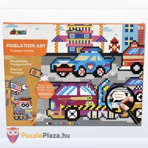 Pixel technika járművek fiúknak kreatív szett - Avenir