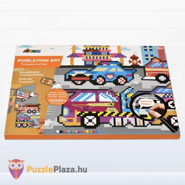 Pixel technika járművek fiúknak kreatív szett - Avenir fektetve
