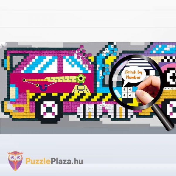 Pixel technika járművek fiúknak kreatív szett - Avenir kirakott kép