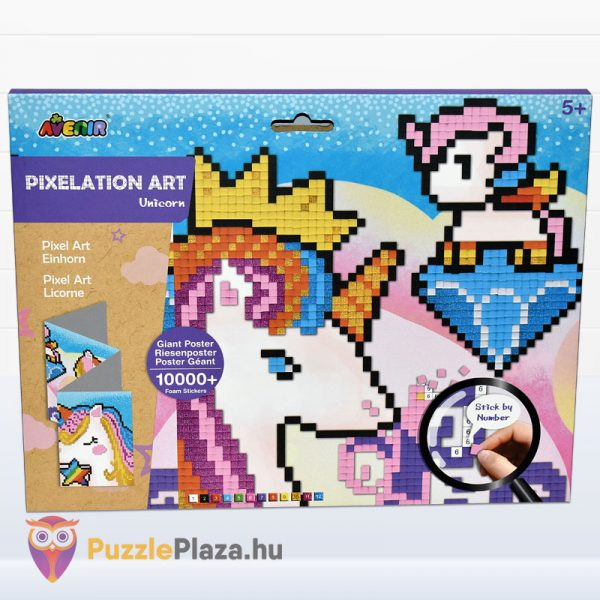 Pixel technika unikornis kreatív szett - Avenir előről