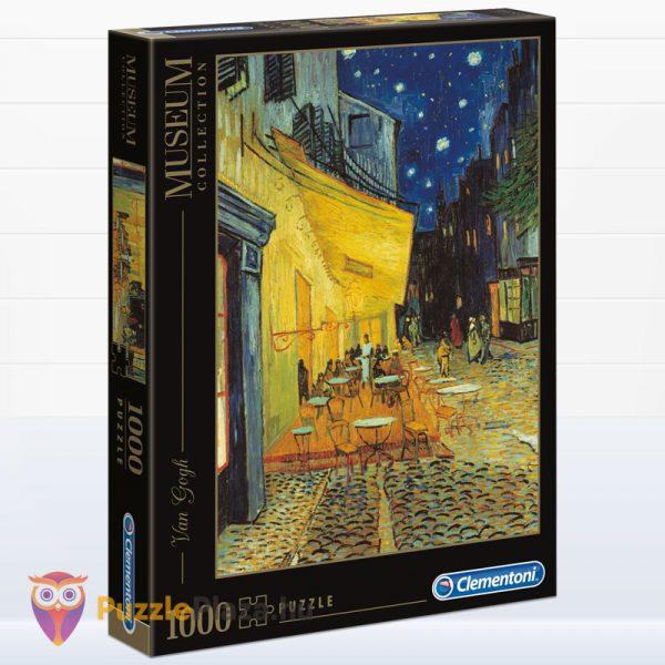 1000 darabos Van Gogh - Éjjeli kávéző festmény puzzle - Clementoni Museum Collection 31470