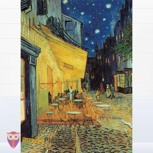1000 darabos Van Gogh - Éjjeli kávéző festmény puzzle kirakott képe - Clementoni Museum Collection 31470