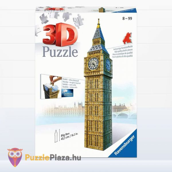 216 darabos 3D Big Ben Puzzle - Ravensburger 12554 doboz