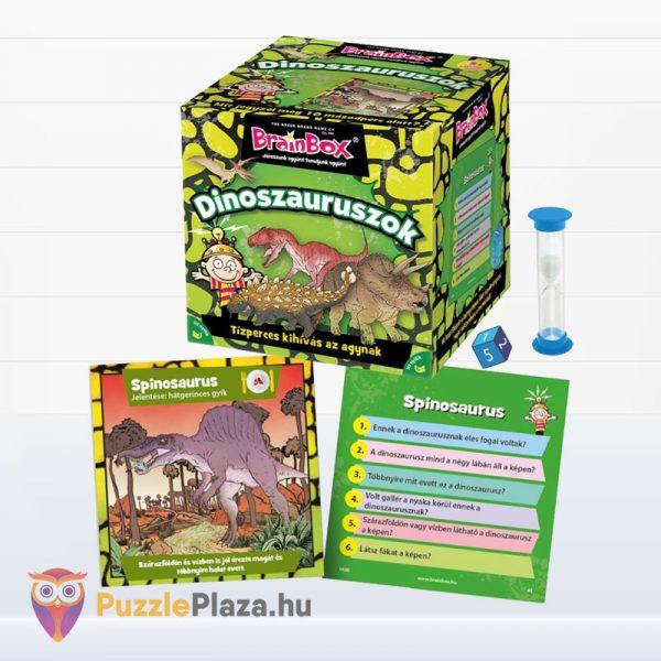 Brainbox - Dinoszauruszok memóriajáték doboza és tartalma