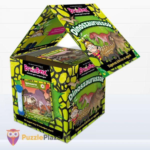 Brainbox - Dinoszauruszok memóriajáték doboza kinyitva