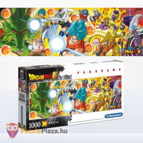 1000 darabos Dragon Ball panoráma puzzle (kirakó) - Clementoni 39486 kirakott kép