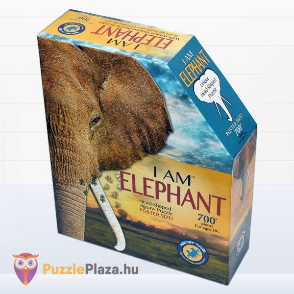 700 darabos elefánt forma puzzle, Wow Toys balról