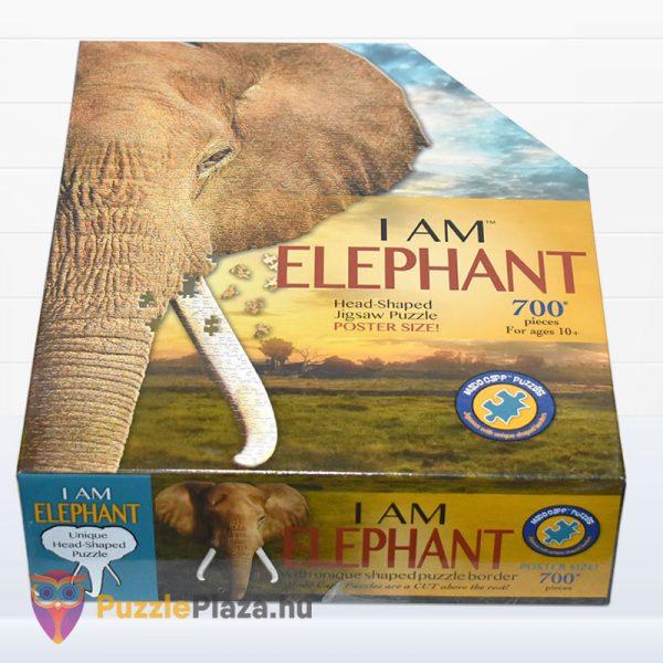 700 darabos elefánt forma puzzle, Wow Toys fektetve