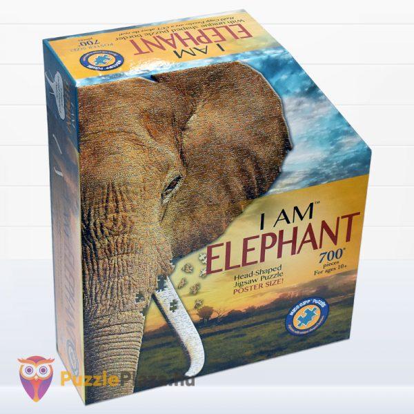 700 darabos elefánt forma puzzle, Wow Toys jobbról