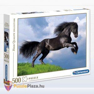 500 darabos fekete színű Fríz ló puzzle - Clementoni 35071