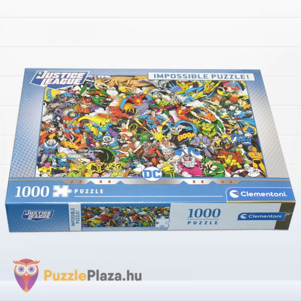 Igazság Ligája (Justice League) - A Lehetetlen Puzzle 1000 db - Clementoni 39599 fektetve