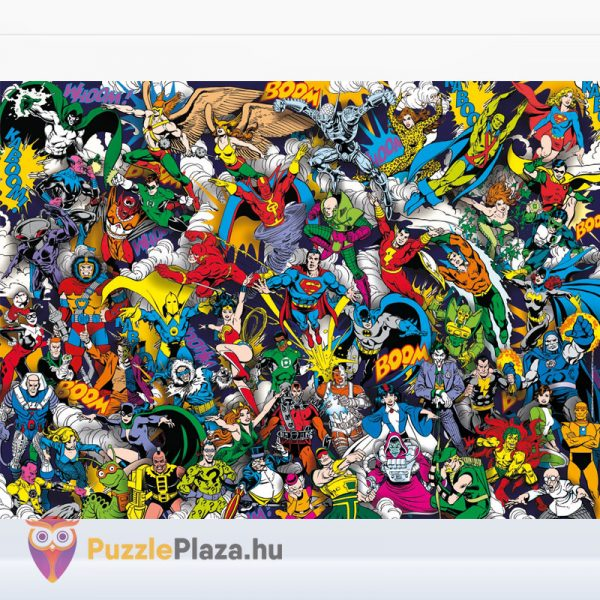 Igazság Ligája (Justice League) - A Lehetetlen Puzzle 1000 db - Clementoni 39599 kirakott kép