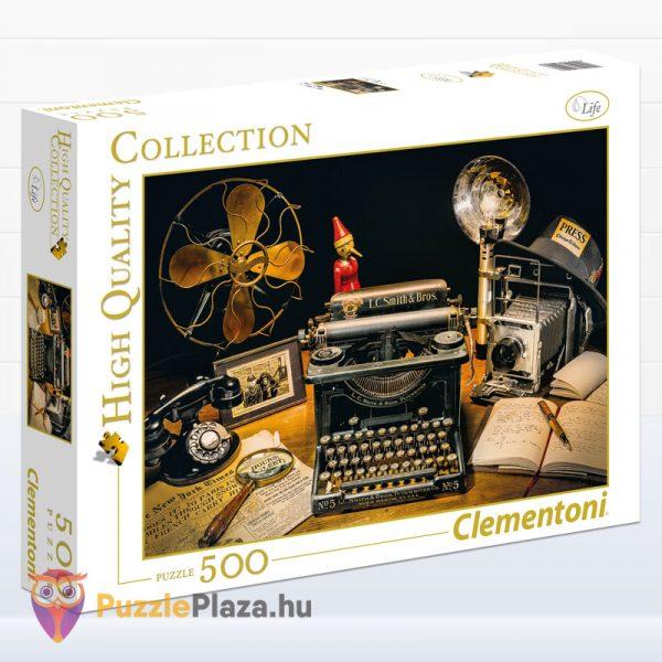 500 darabos írógép puzzle - Clementoni High Quality Collection 35040 doboza
