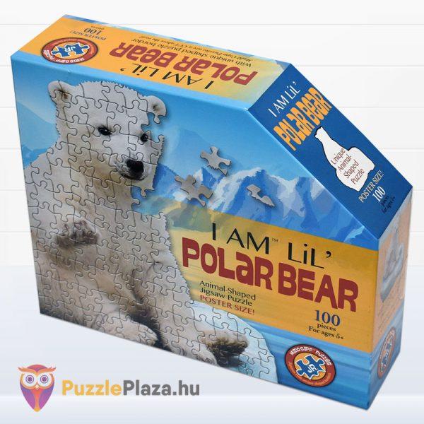 100 darabos jegesmedve formájú puzzle, wow toys - balról
