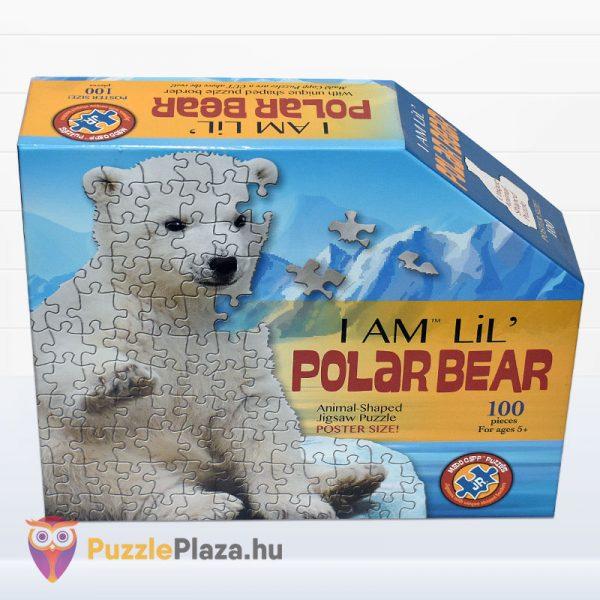 100 darabos jegesmedve formájú puzzle, wow toys - előről
