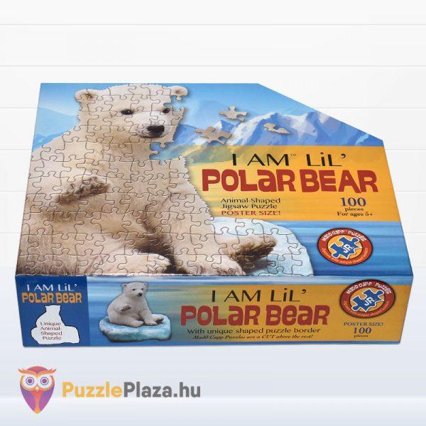 100 darabos jegesmedve formájú puzzle, wow toys - fektetve