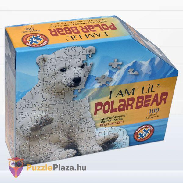 100 darabos jegesmedve formájú puzzle, wow toys - jobbról