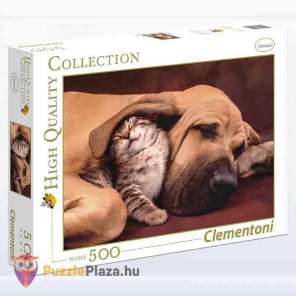 1000 darabos kutya és cica ölelkezik puzzle - Clementoni 35020