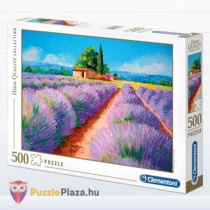 500 darabos levendula mező festmény puzzle - Clementoni 35073