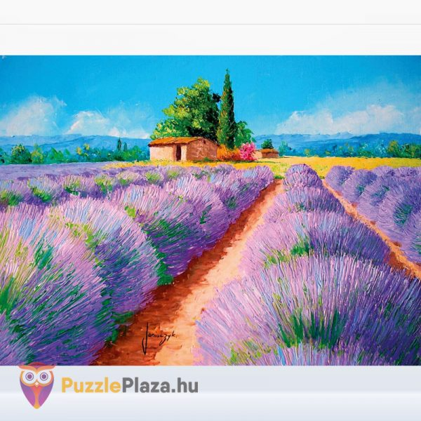 500 darabos levendula mező festmény puzzle kirakott képe - Clementoni 35073