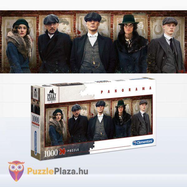 1000 darabos Peaky Blinder panoráma puzzle - Clementoni 39567 kirakott kép és doboz
