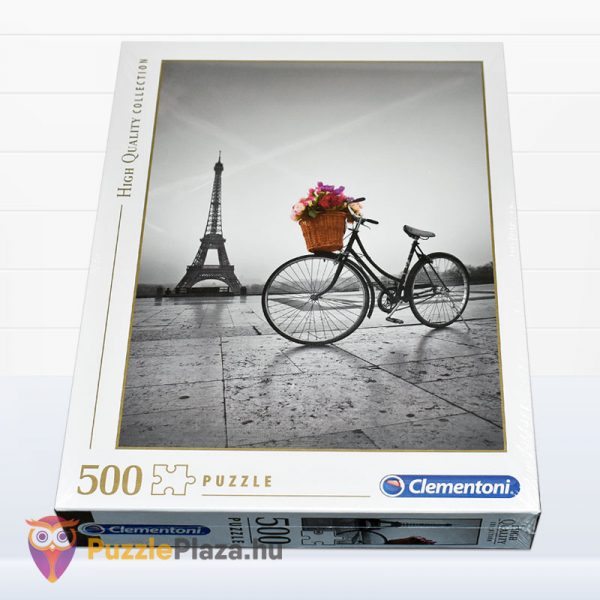500 darabos romantikus Eiffel-torony puzzle - Clementooni High Quality Collection 35014 fektetve