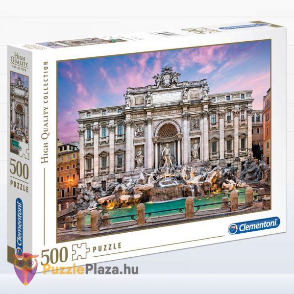 500 darabos Trevi-kút (Róma) Puzzle Barcelónában - Clementoni High Quality Collection 35062 doboza