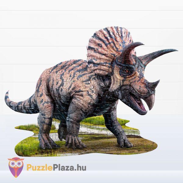 100 darabos triceratopsz dinós élethű forma puzzle - Wow Toys kirakott kép