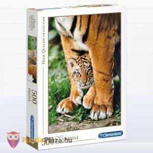 500 darabos bengáli kölyök tigris az anyukája lábánál. Clementoni 35046 High Quality Collection