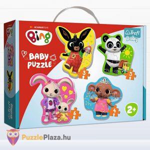Bing és barátai első baba forma puzzle amin Bing, Pando, Sulo és Coco látható. Trefl 36085