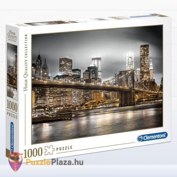 1000 darabos Brookly híd éjszaka puzzle - Clementoni 39366