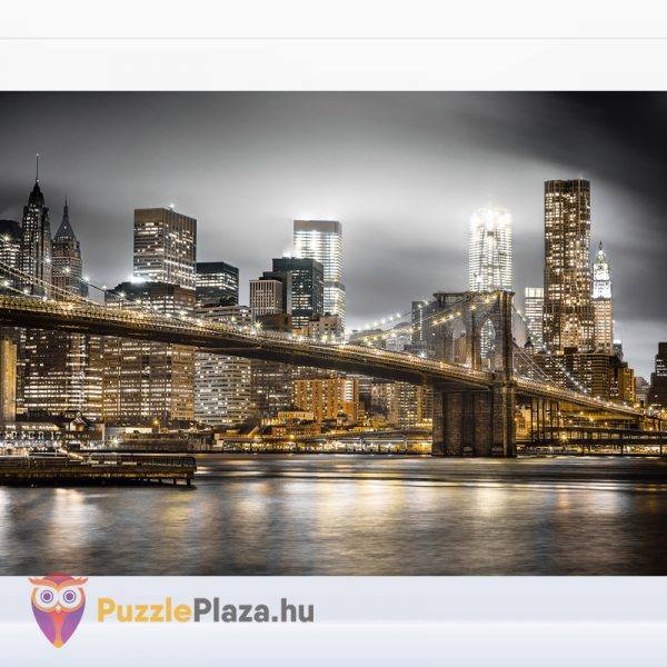 1000 darabos Brookly híd éjszaka puzzle kirakott képe - Clementoni 39366