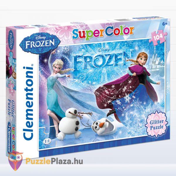 104 darabos Clementoni 29712 - Disney Jégvarázs csillámos puzzle