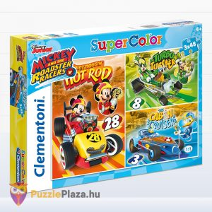 3x48 darabos Clementoni Supercolor Mickey és barátai autóverseny puzzle