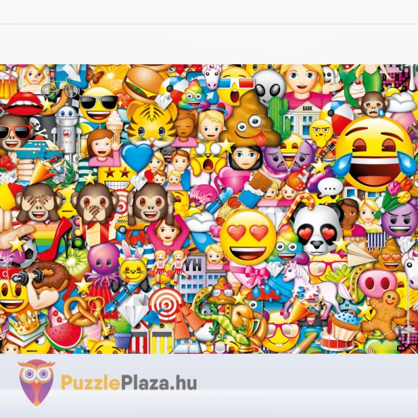 180 darabos Clementoni Supercolor emoji puzzle kirakott képe