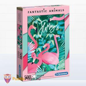 500 darabos flamingós puzzle - Clementoni Fantastic Animals 35067