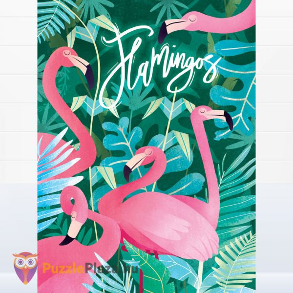 500 darabos flamingós puzzle - Clementoni Fantastic Animals 35067 kirakott kép